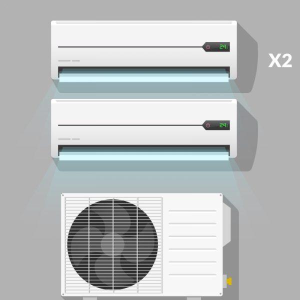 manutenzione condizionatori dual split